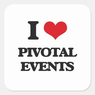 I Love Pivotal Events Square Sticker