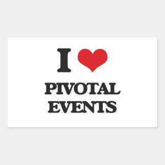 I Love Pivotal Events Rectangular Sticker