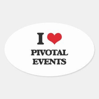 I Love Pivotal Events Oval Sticker