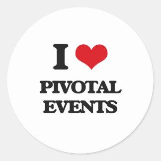 I Love Pivotal Events Round Sticker