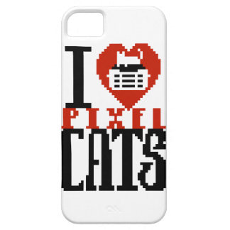 I Love Pixel Cats iPhone 5 Cover
