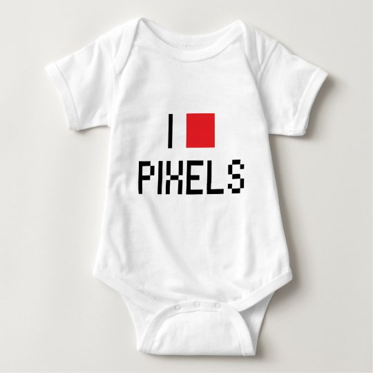 I LOVE PIXELS BABY BODYSUIT