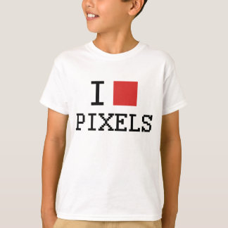 I Love Pixels / I Heart Pixels Kids T-Shirt