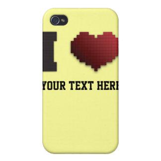 I Love Pixels?!? iPhone 4 Case