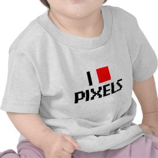 I Love Pixels T Shirts