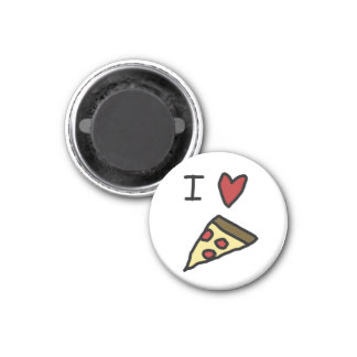 I love pizza 1 inch round magnet