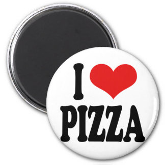 I Love Pizza 2 Inch Round Magnet
