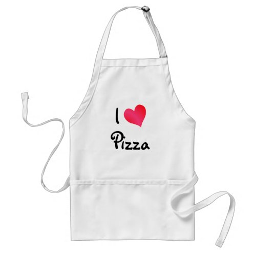 I Love Pizza Adult Apron