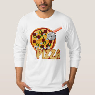 I Love Pizza -  American Apparel Long Sleeve T-Shirt