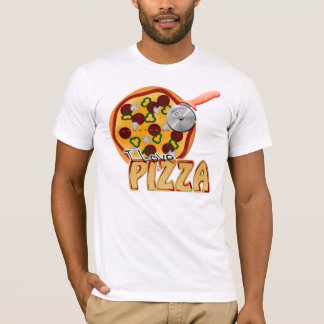I Love Pizza -  American Apparel T-Shirt (Fitted)