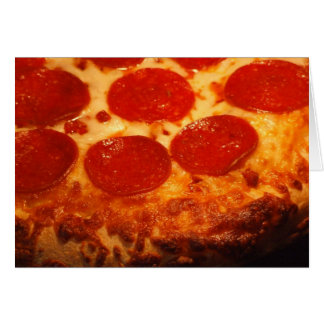 I Love Pizza and You Greeting Card