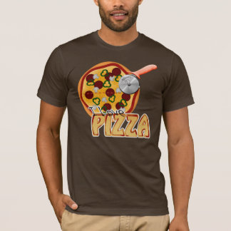 I Love Pizza -  Basic American Apparel T-Shirt