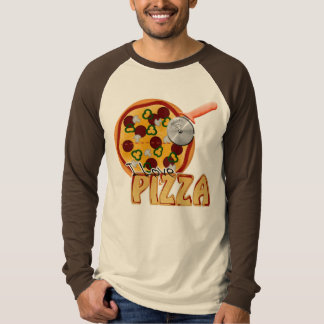 I Love Pizza -  Basic Long Sleeve Raglan T-Shirt