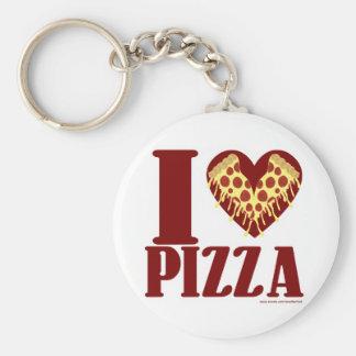 I love Pizza Basic Round Button Keychain