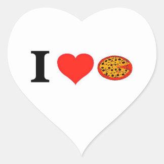 I Love Pizza Heart Sticker