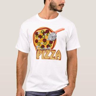 I Love Pizza -  Melange Ringer T-Shirt
