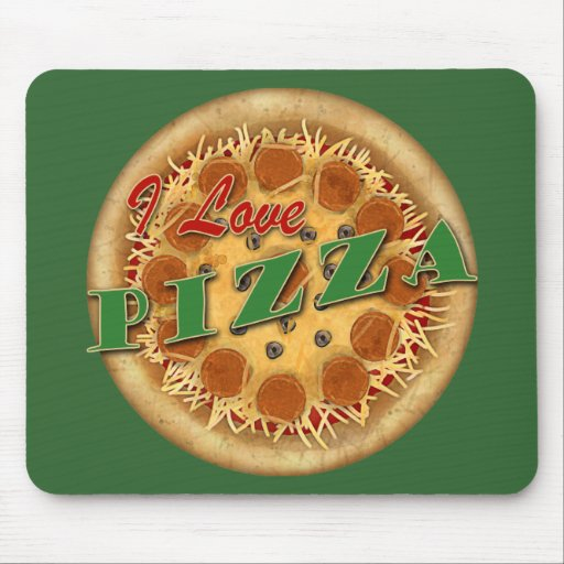 I Love Pizza Mouse Pads