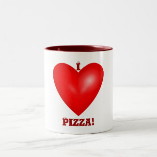 I Love Pizza Mug Two-Tone Mug