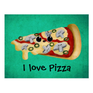 I love Pizza Postcard