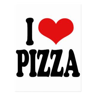 I Love Pizza Postcard