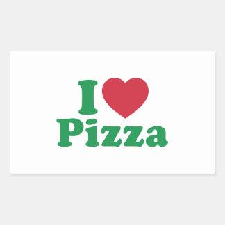 I Love Pizza Rectangular Sticker