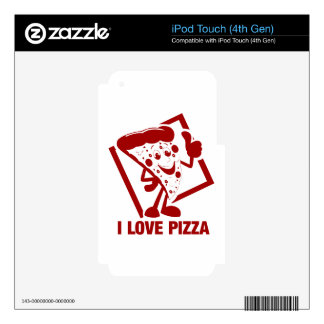 I Love Pizza Skin For iPod Touch 4G
