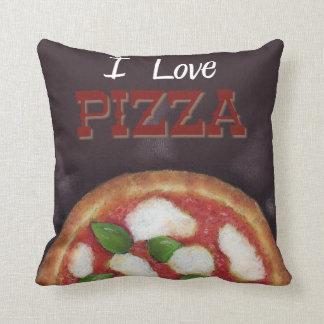 "I Love Pizza Throw Pillow 16"" x 16"""