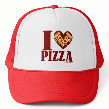 Valentines Themed I Love Pizza Trucker Hat