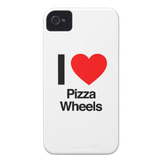 i love pizza wheels iPhone 4 cases