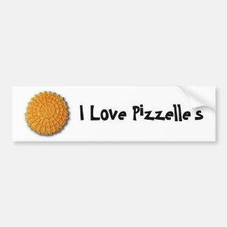 I love Pizzelle's Car Bumper Sticker