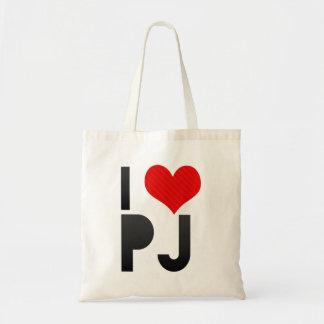I Love PJ Budget Tote Bag