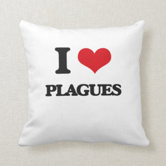 I Love Plagues Throw Pillows