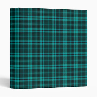 I Love Plaid- Cyan 3 Ring Binder