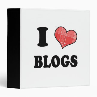 I Love (Plaid Heart) Blogs Binder