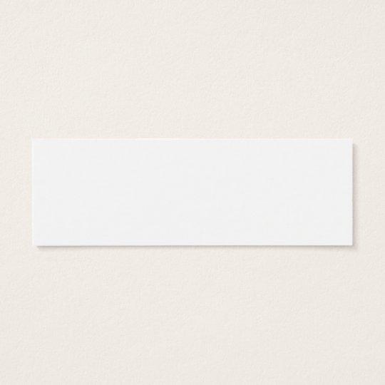 I Love (Plaid Heart) Nerds Bookmark Mini Business Card