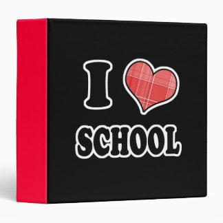 I Love (Plaid Heart) School 3 Ring Binder