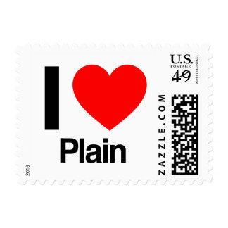 i love plain stamps