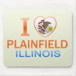 I Love Plainfield, IL Mouse Pad