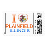 I Love Plainfield, IL Postage Stamps