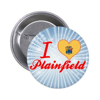 I Love Plainfield New Jersey Buttons