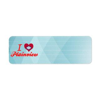 I Love Plainview, Arkansas Custom Return Address Label