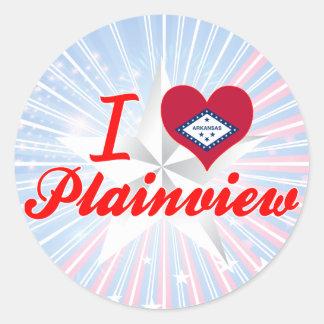 I Love Plainview Arkansas Round Sticker