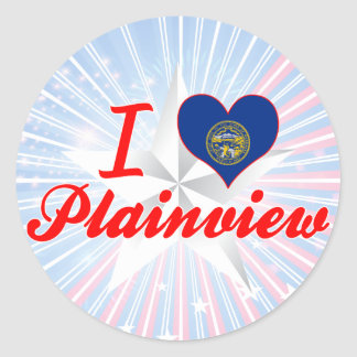 I Love Plainview, Nebraska Classic Round Sticker