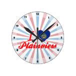 I Love Plainview, Nebraska Round Clock