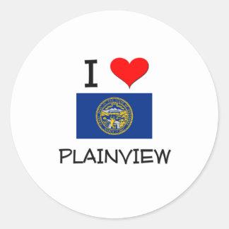 I Love Plainview Nebraska Round Sticker