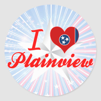 I Love Plainview Tennessee Round Sticker