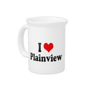 I Love Plainview, United States Beverage Pitchers