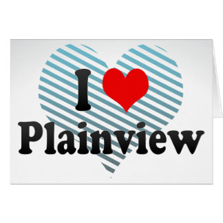 I Love Plainview, United States Stationery Note Card