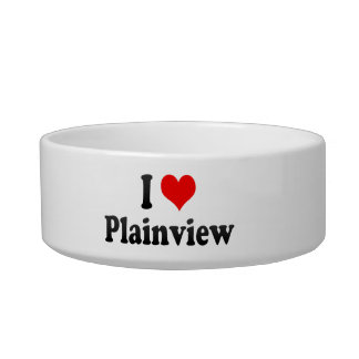 I Love Plainview, United States Cat Food Bowls