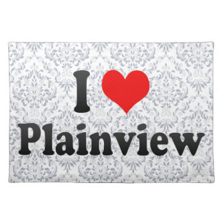 I Love Plainview, United States Cloth Placemat